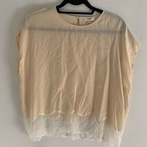 Wilfred silk shirt with lace